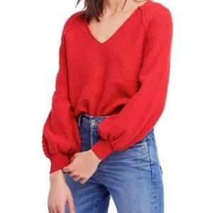Free People Found My Friend Balloon Sleeve Top